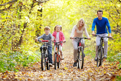 family self catering holidays with cycling