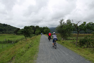 Mawddach traffic free cycling trail in Wales